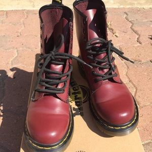 Dr martens cherry red 1460 boots